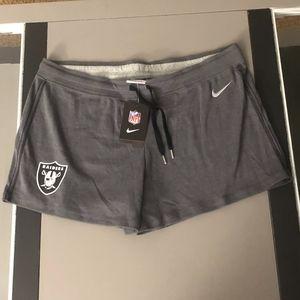 NWT Nike Women's Training Oakland Raiders shorts L